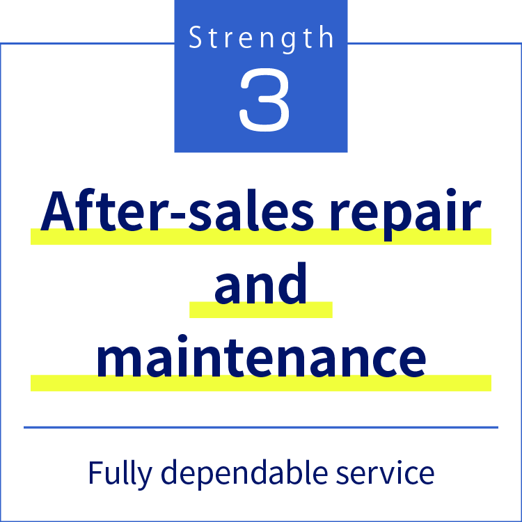 Strength3 After-sales repair and maintenance Fully dependable service