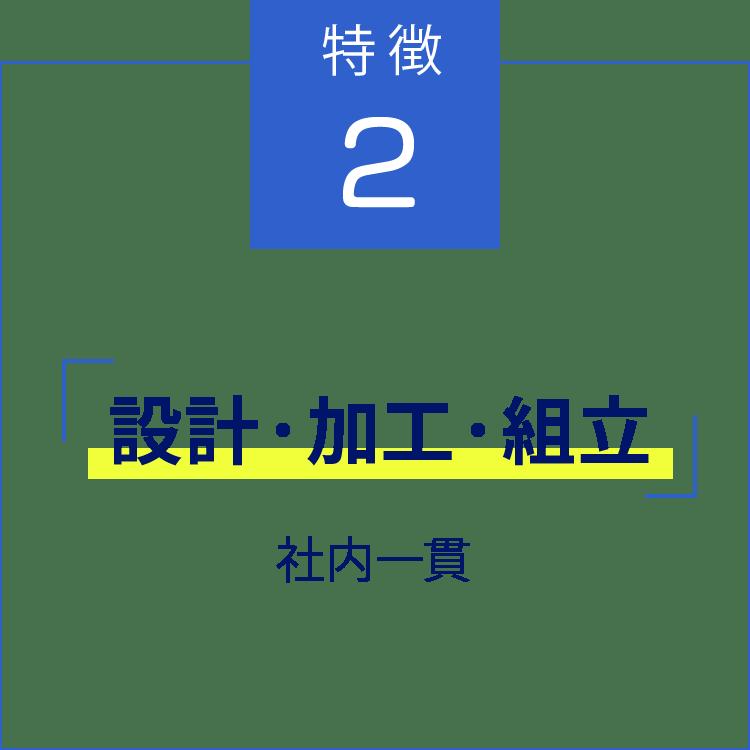 特徴2「設計・加工・組み立て」社内一貫
